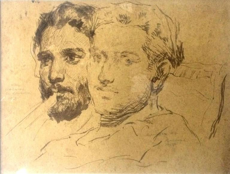Ravindra Mestry and Baburao Sadwelkar, Portraits © The Bombay Art Society