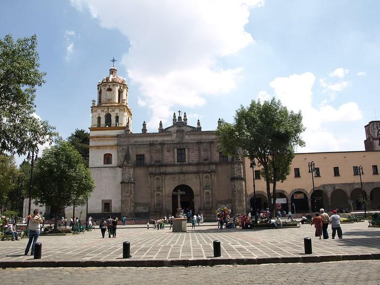 Iglesia de San Juan Bautista (Coyoacán) | ©Pablo Fossas/WikiCommons