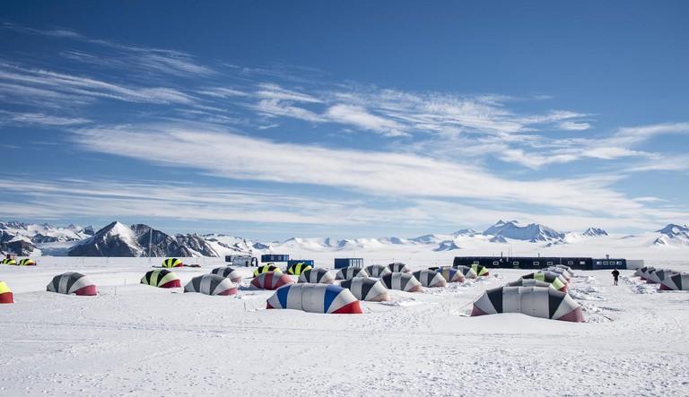 Campsite in Antartica