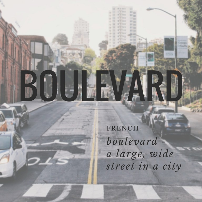 Boulevard | French Word