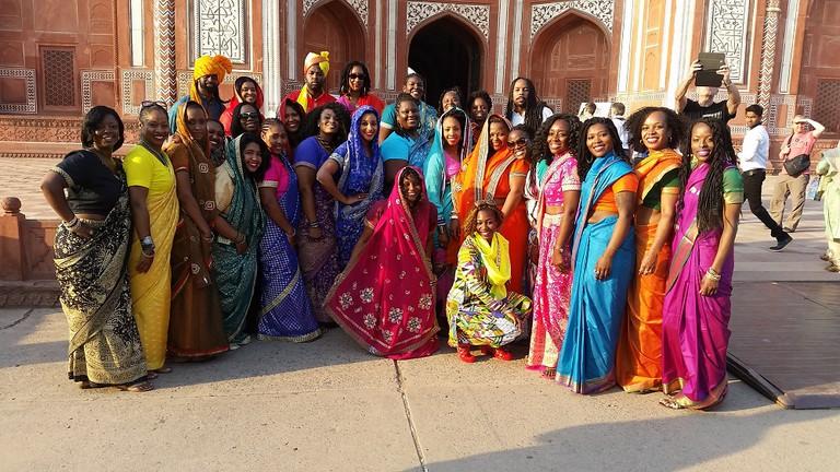 Entrance to Taj Mahal in Agra, India