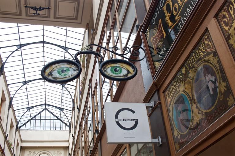 Inside a covered passage, Paris