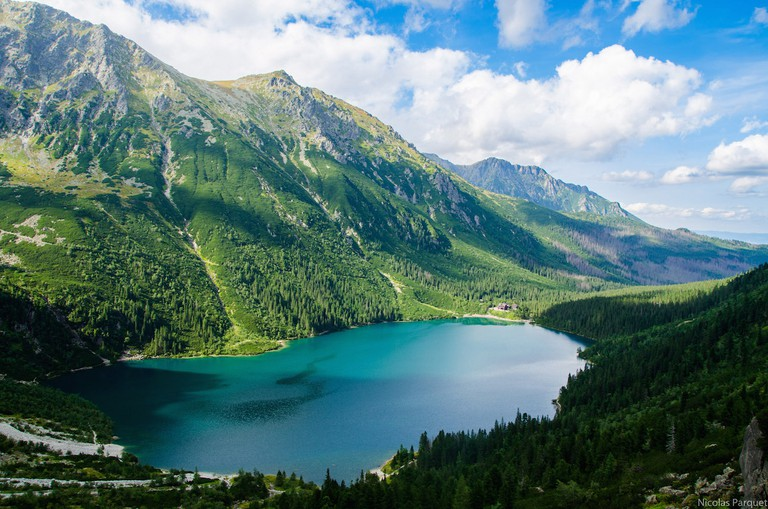 This lake is the largest in the Tatras at 862 meters in length