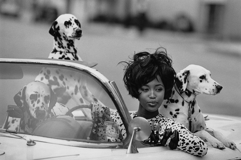 Naomi Campbell photographed by Peter Lindbergh for Vogue, 1990