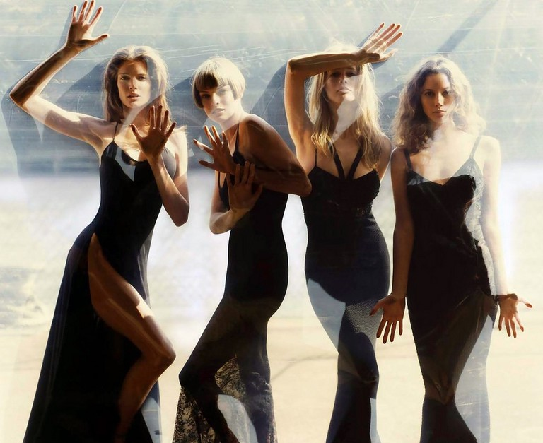 Stephanie Seymour, Linda Evangelista, Claudia Schiffer & Christy Turlington photographed by Steven Meisel