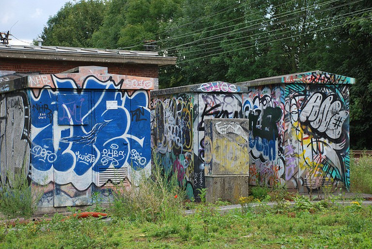 Graffiti at the Jette railway tracks | © Winny Biets/Flickr