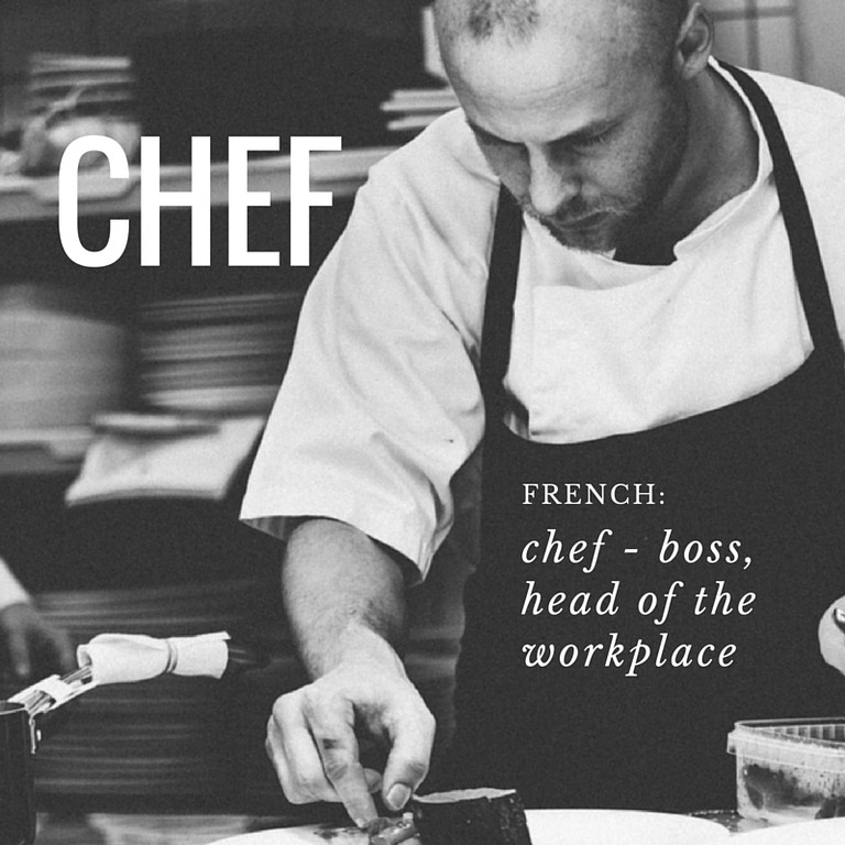 Chef | French Word