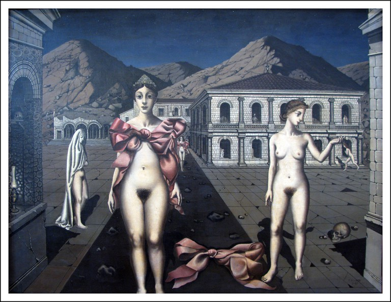 The Pink Bows by Paul Delvaux | © Martin Beek/Flickr