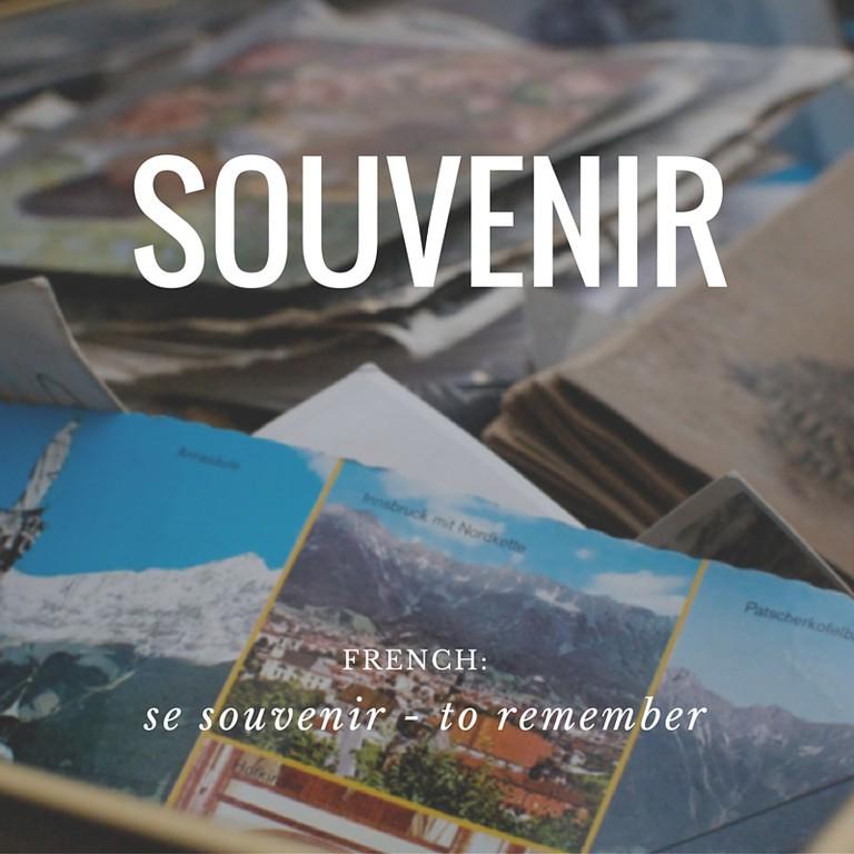 Souvenir | French Word