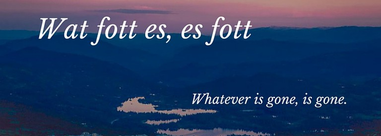 Article Four: Was fort ist, ist fort
