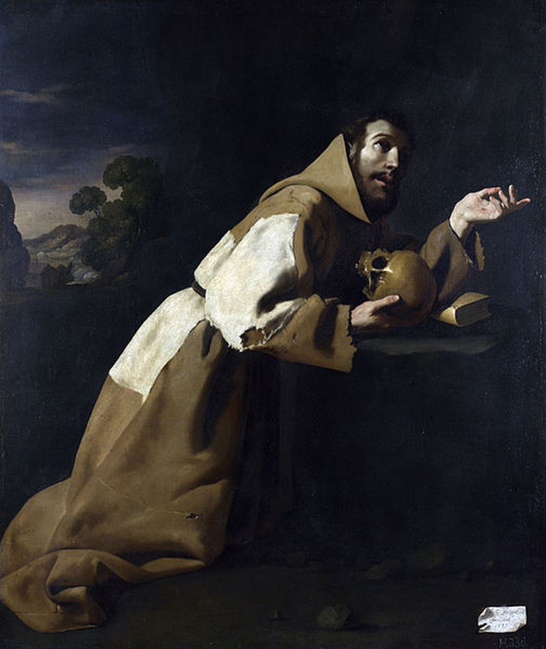 Saint Francis in Meditation by Francisco de Zurbarán