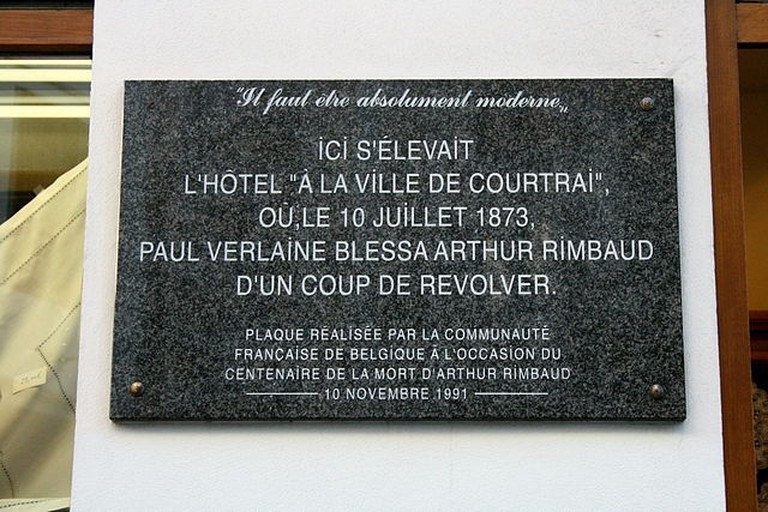 Plaque at Rue de Brasseurs| © WikiCommons