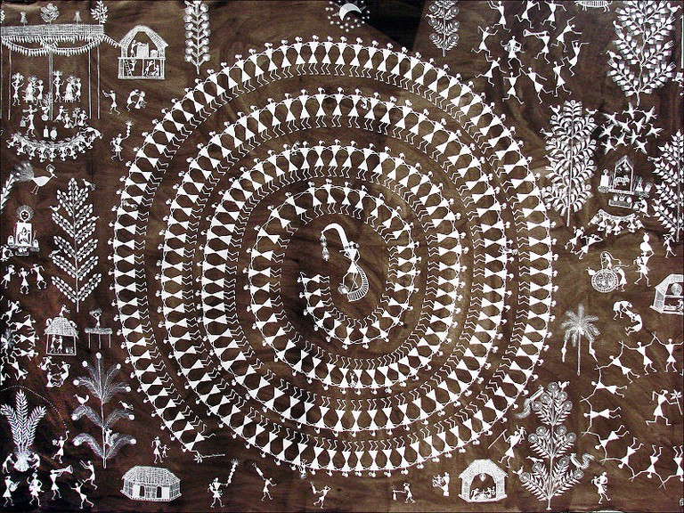 A Warli painting by Jivya Soma Mashe, Thane district | © Wikicommons