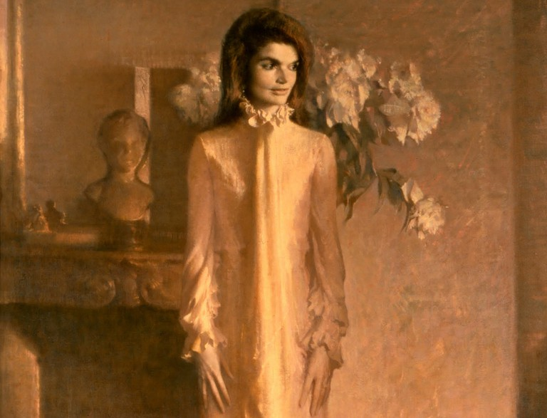 [ S ] Aaron Shikler - Jacqueline Bouvier Kennedy Onassis (Mrs. John F. Kennedy) (1970) - Detail | © cea +/Flickr