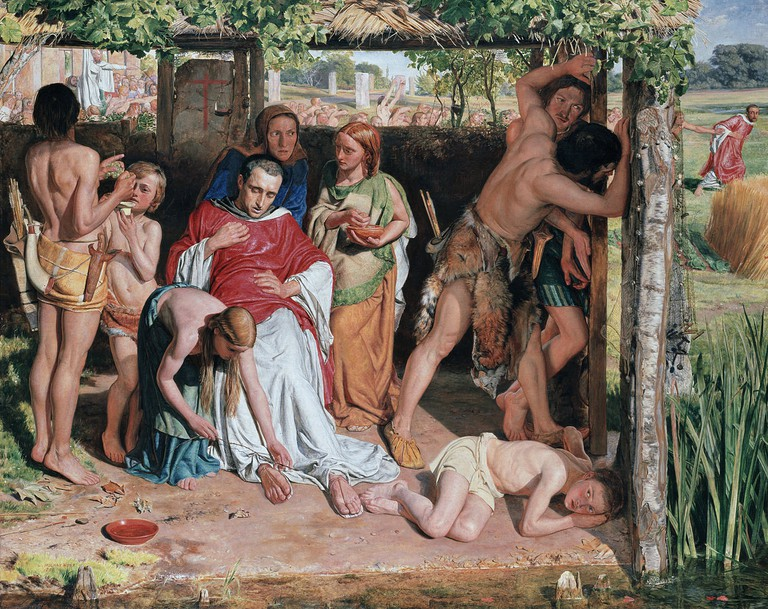 Holman Hunt, A Converted British Family Sheltering a Christian Missionary from the Persecution of the Druids, 111 x 141 cm, Ashmolean Museum, 1850 | © Jan Arkesteijn/WikiCommons