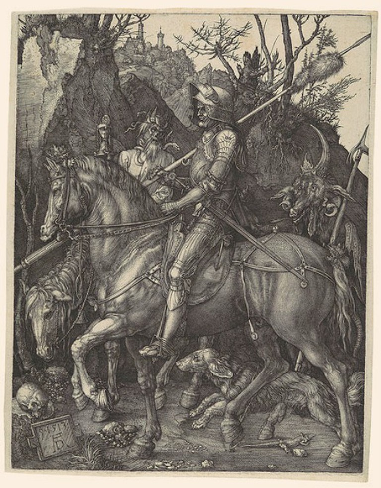 Albrecht Dürer, Knight, Death and the Devil, Sheet: 25 x 19.6 cm, Plate: 24.3 x 18.8 cm, The Metropolitan Museum of Art, 1513 | © Ceoil/WikiCommons