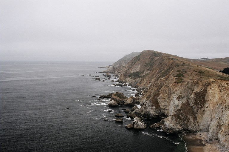 A foggy but beautiful view of the Point Reyes' coastline