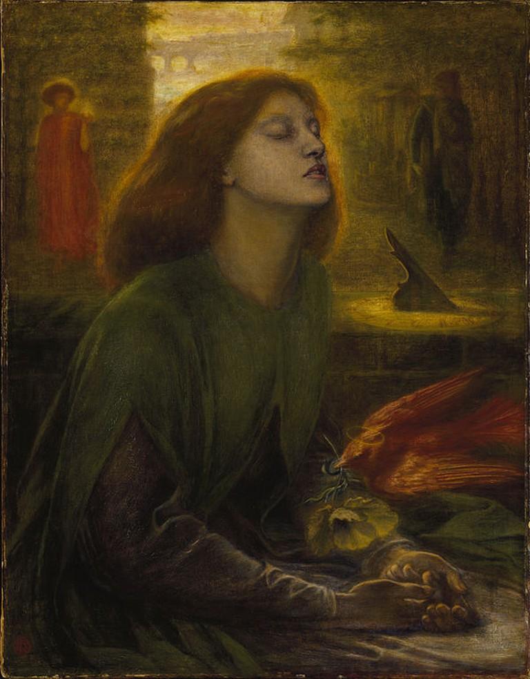 Rossetti, Beata Beatrix, Support: 864 x 660 mm, Frame: 1212 x 1015 x 104 mm, Tate Britain, c. 1864-70