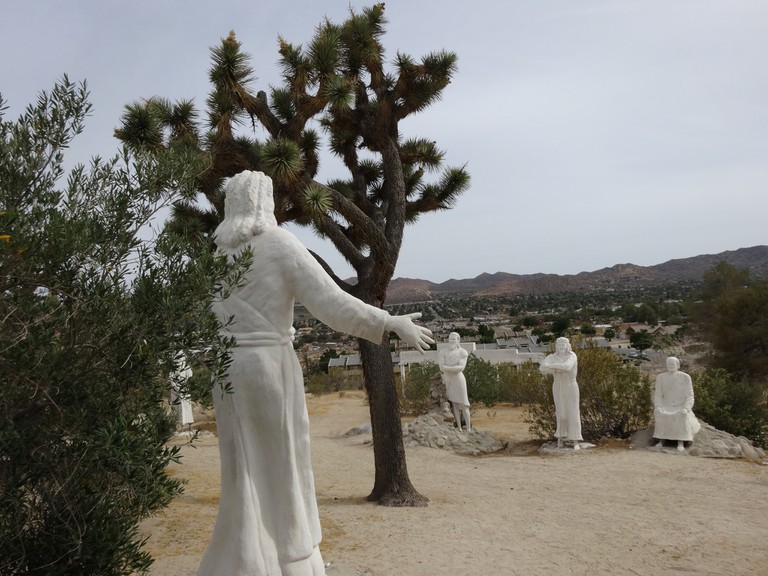 Christ in the Desert Park Jesus and Disciples Yucca Valley California
