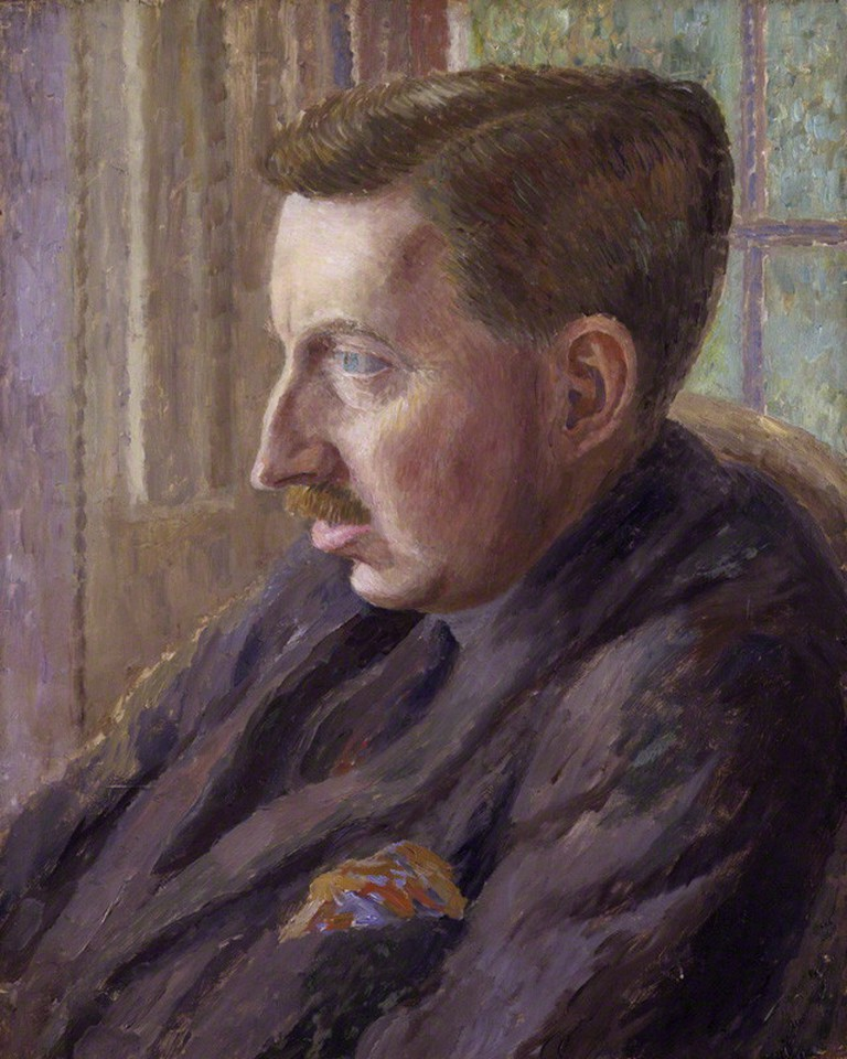 Portrait of E. M. Forster, oil on canvas, 1920