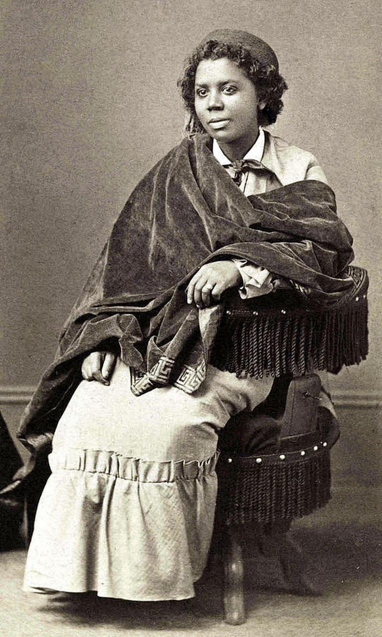 Edmonia Lewis, Albumen print, c.1870,| © Henry Rocher/wikicommons