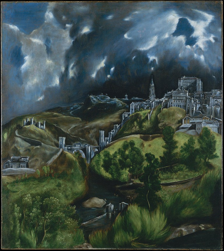 El Greco, View of Toledo, 121.3 x 108.6 cm, The Metropolitan Museum of Art, c. 1598-99 | © DcoetzeeBot/WikiCommons