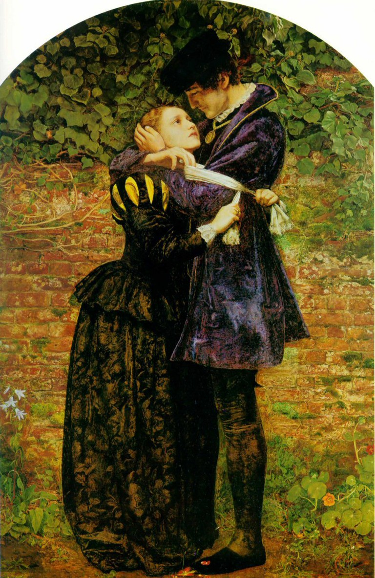 John Everett Millais, A Huguenot, 1852 | © Private Collection/WikiCommons