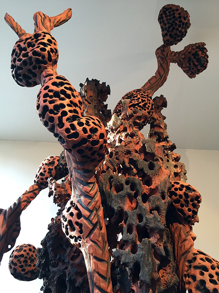 Burned wood sculpture