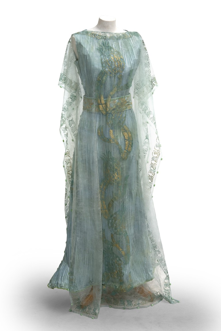 Isabelle de Borchgrave Fortuny-inspired paper dress