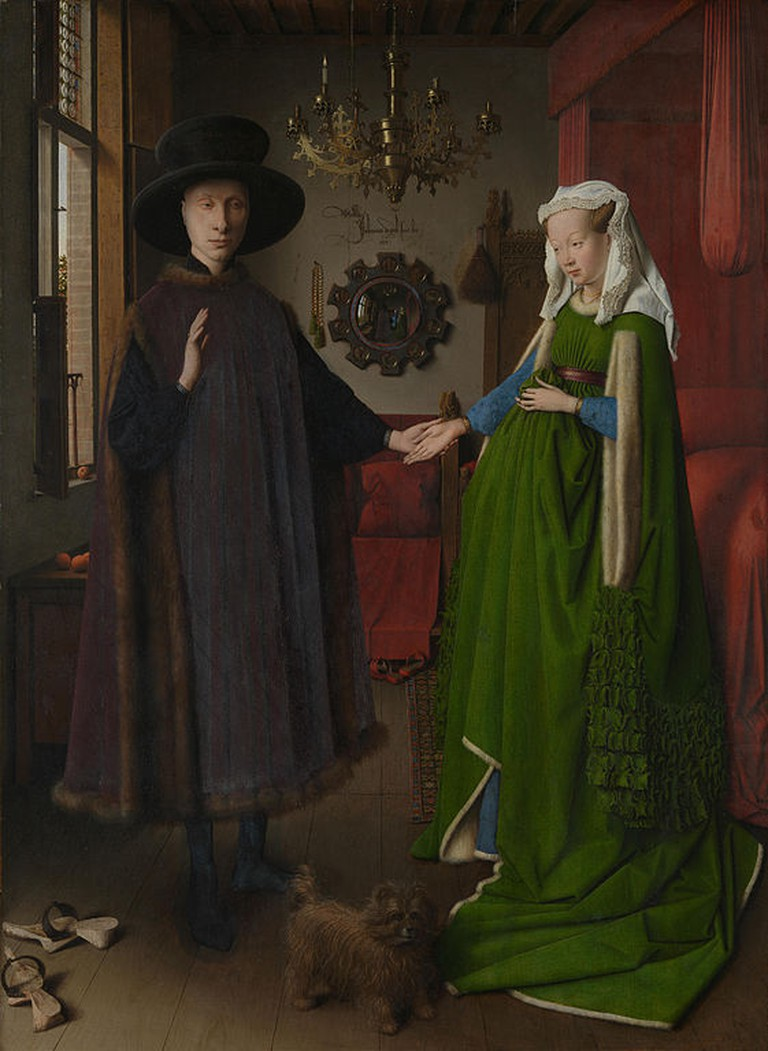 Jan van Eyck, The Arnolfini Portrait, 82.2 x 60 cm, The National Gallery, 1424 | © Ayesha23/WikiCommons