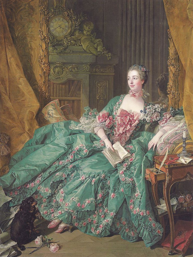 Figure 4, Portrait of Madame de Pompadour (1721-1764) by François Boucher at the Alte Pinakothek, Munich, 1756