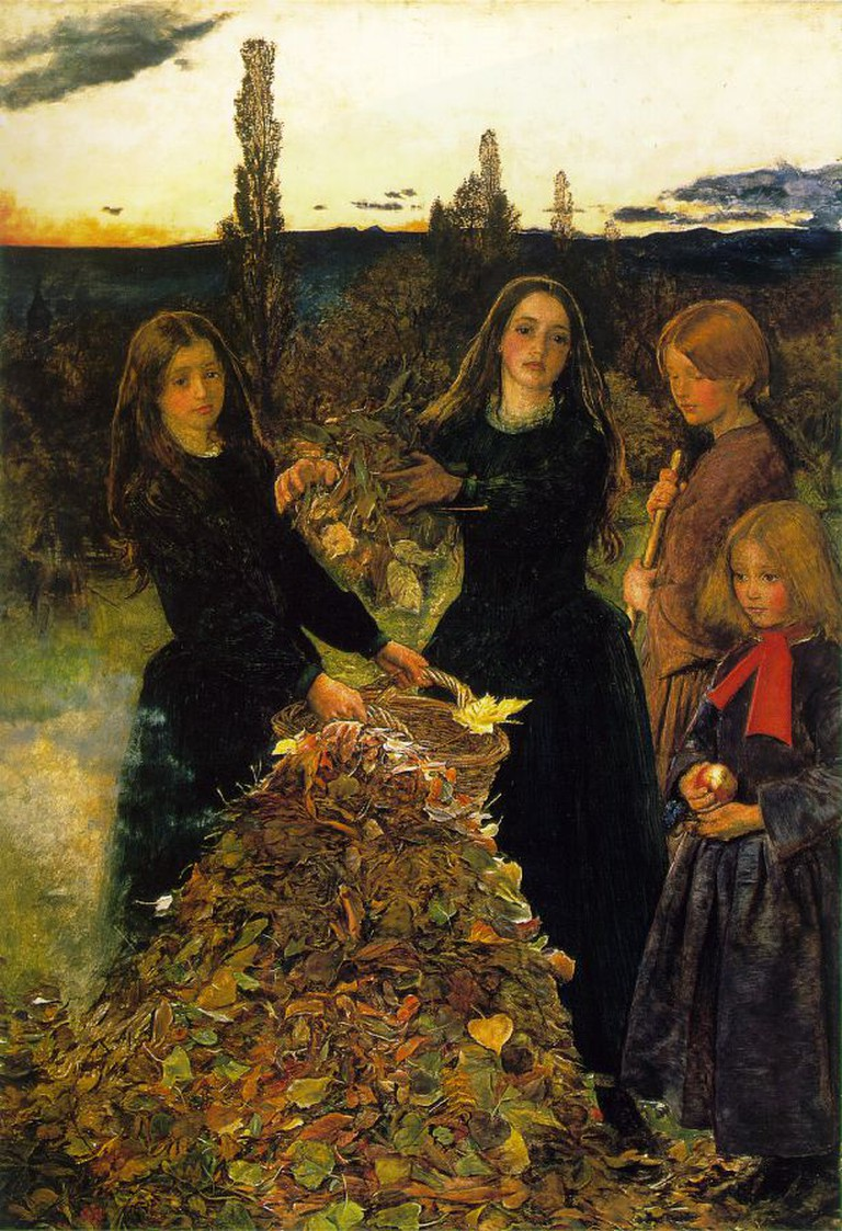 John Everett Millais, Autumn Leaves, 1855-1856 | © Manchester Art Gallery/WikiCommons