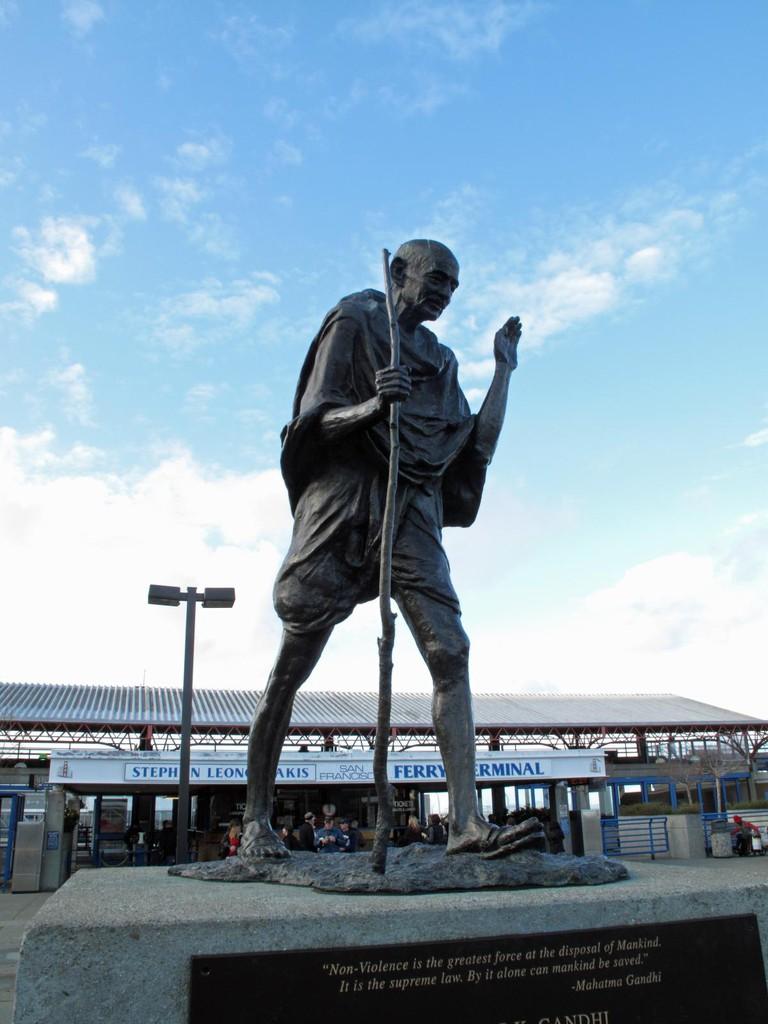 Mohandas K. Gandhi sculpture