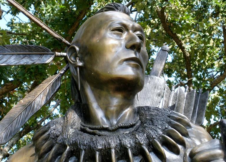 Chickasaw warrior or Tashka Chikasha Hattak Holba'