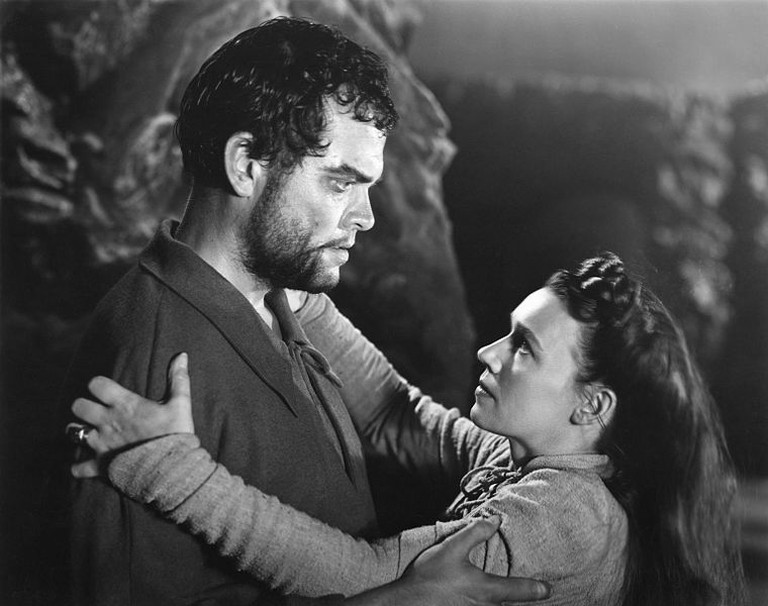 Orson Welles and Jeanette Nolan