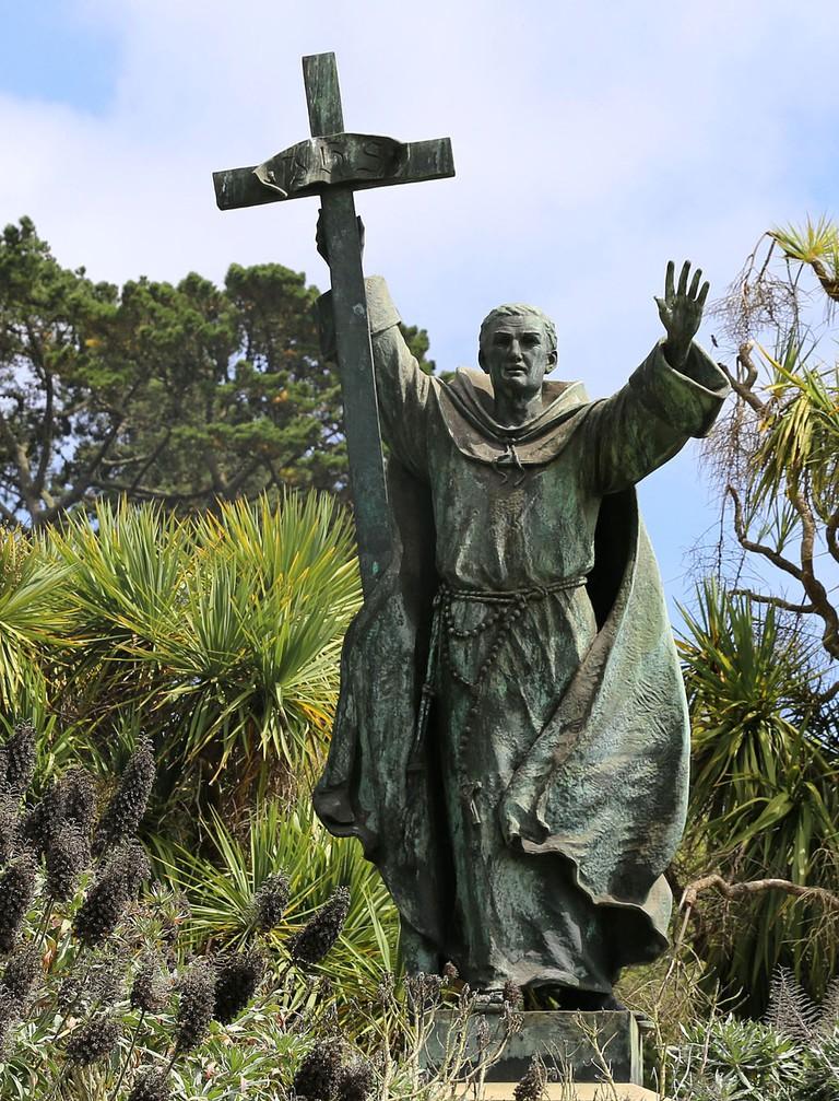 Statue of Junipero Serra at Golden Gate Parkd