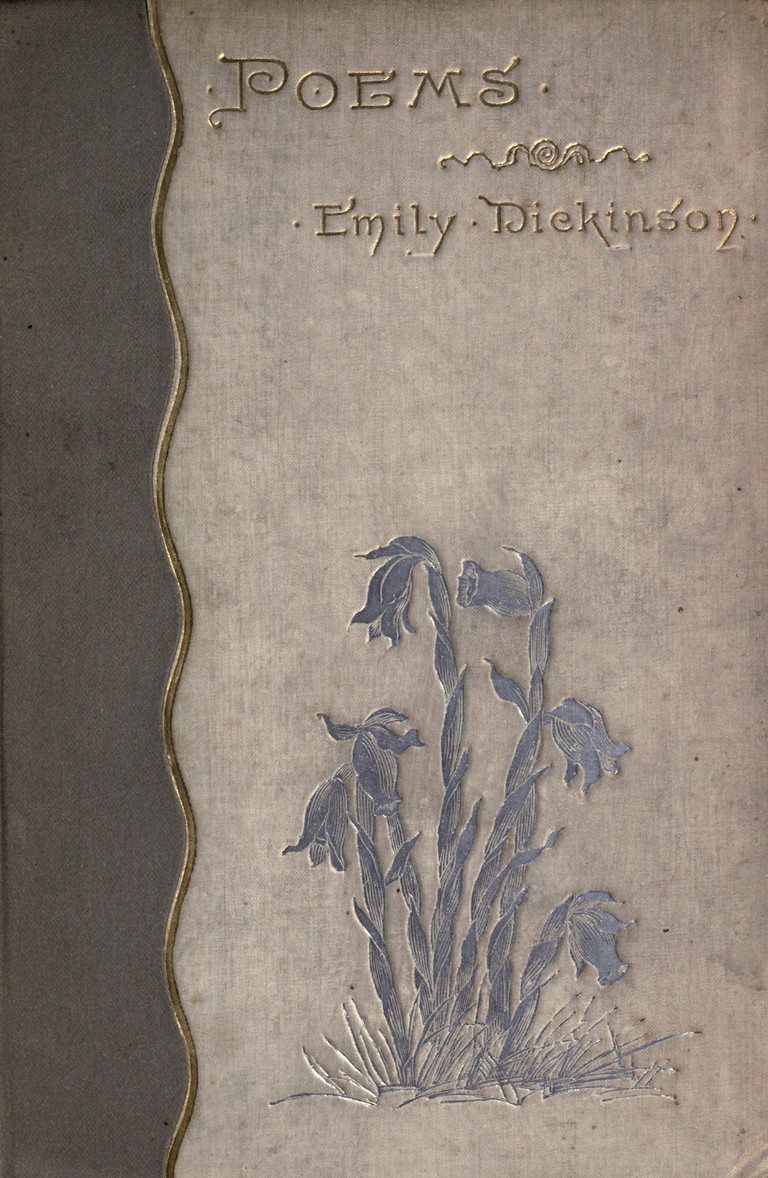 Cover of the 1890 First edition of Poems