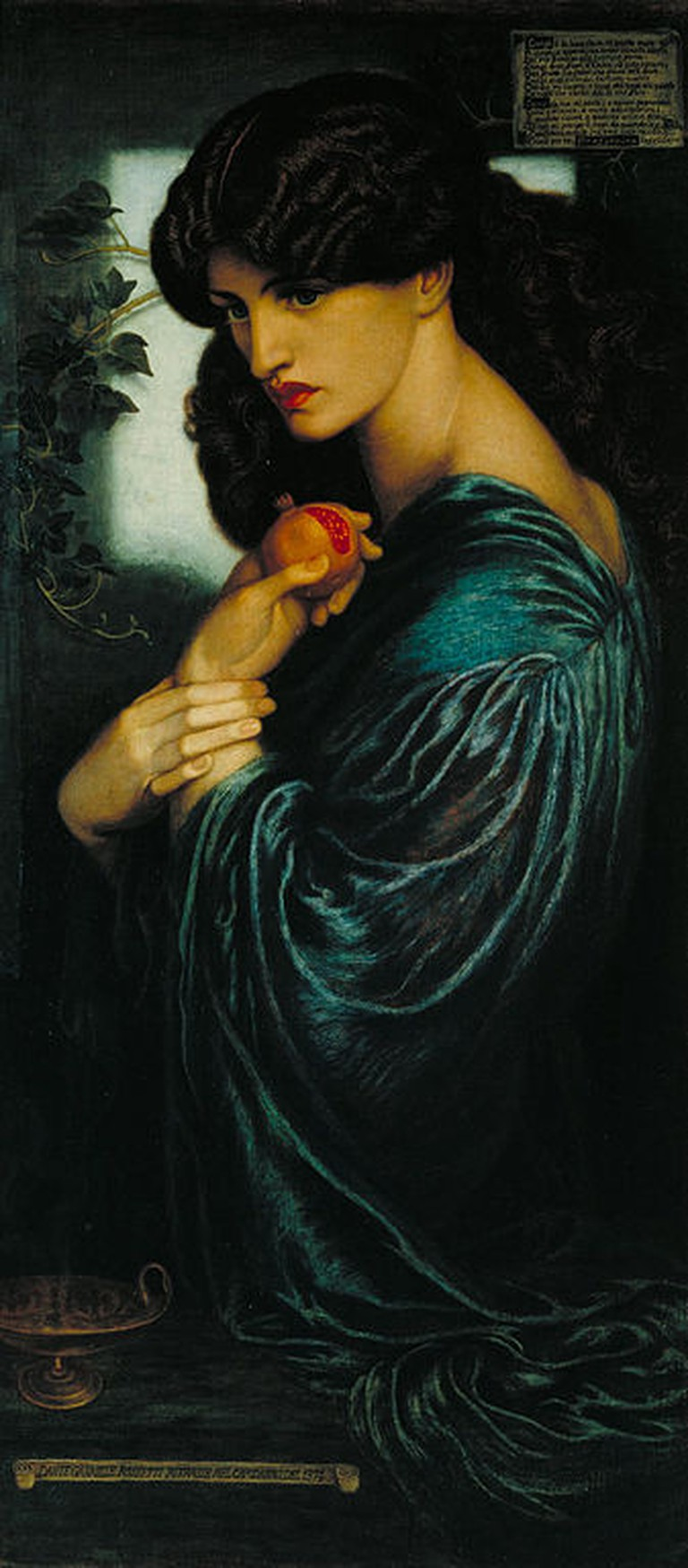 Rossetti, Proserpine, Support: 1251 x 610 mm, Frame: 1605 x 930 x 85 mm, Tate Britain, 1874