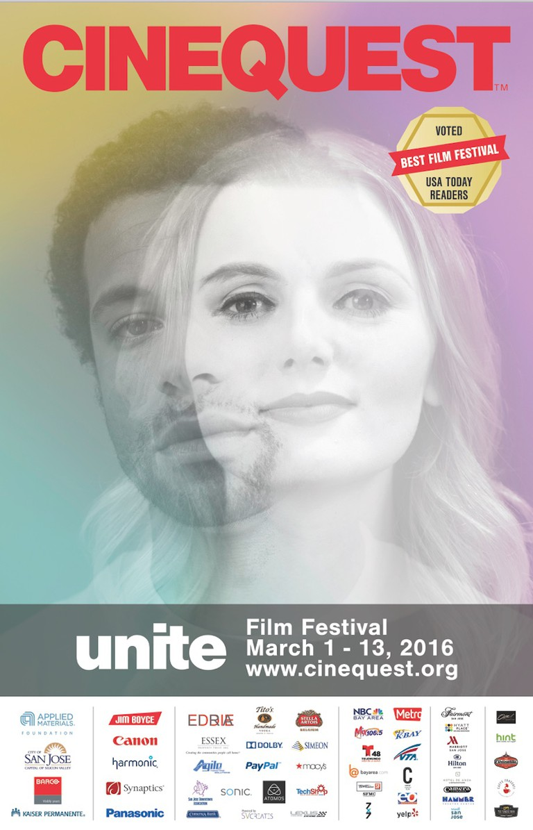 Cinequest 2016 flyer with sponsors   Courtesy of Cinequest