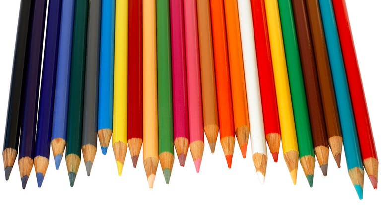 A variety of colored pencils