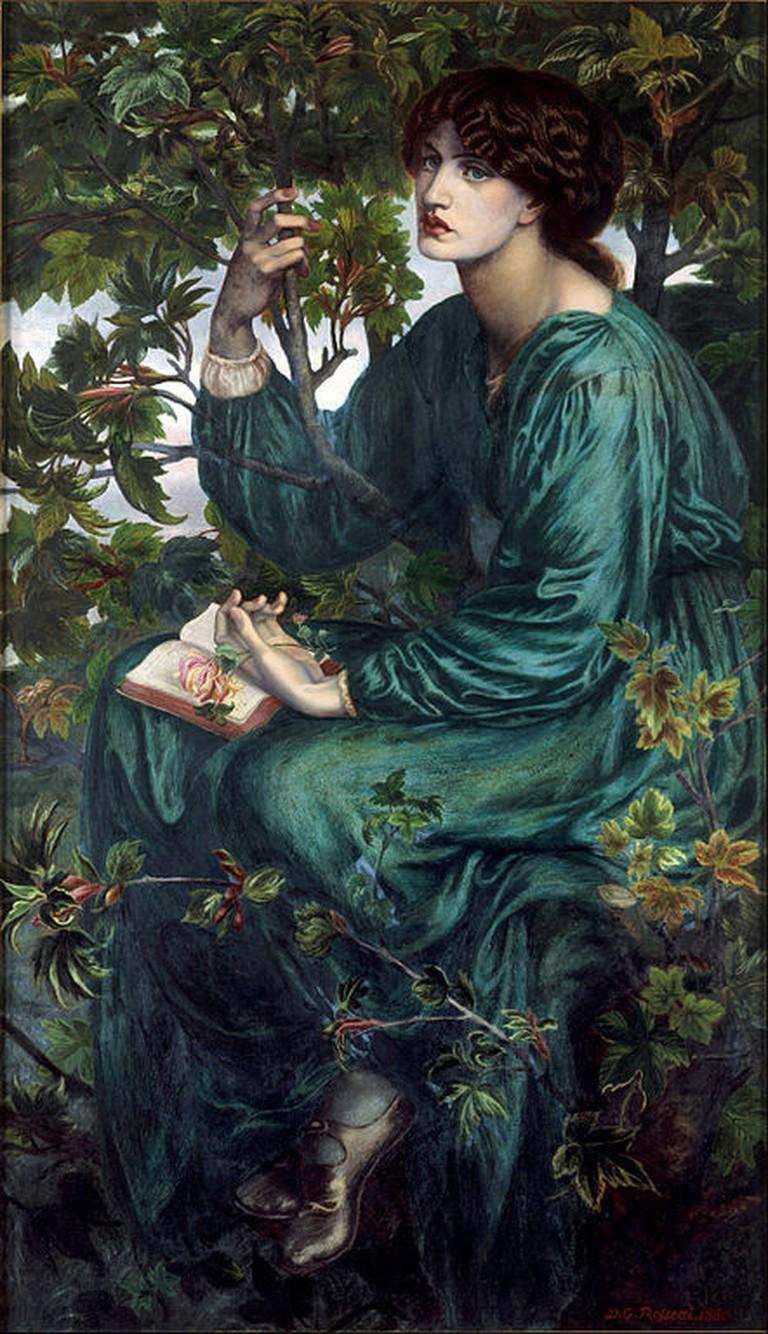 Rossetti, The Day Dream, 58.7 x 92.7 cm, Victoria and Albert Museum, 1880 | © DcoetzeeBot/WikiCommons
