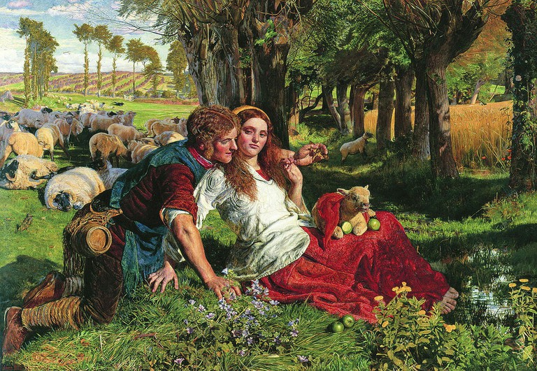 Holman Hunt, The Hireling Shepherd, 76.4 x 109.5 cm, Manchester Art Gallery, 1851 | © Dmitry Rozhkov/WikiCommons