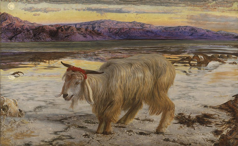 Holman Hunt, The Scapegoat, 86.5 x 139.8 x 3 cm, Walker Art Gallery, 1854-55 | © Dmitry Rozhkov/WikiCommons