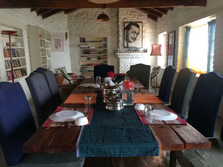 A view of the dining room
