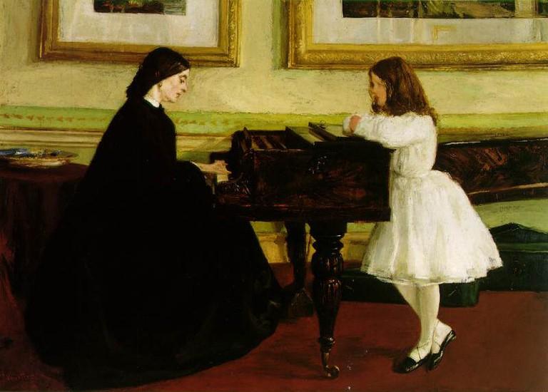 Whistler, At the Piano, 67 x 91.6 cm, Taft Museum of Art, 1858-59 | © File Upload Bot (Magnus Manske)/WikiCommons