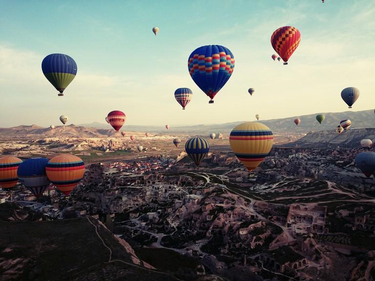 Hot Air Balloons in Turkey | ©Trudi90/Pixabay
