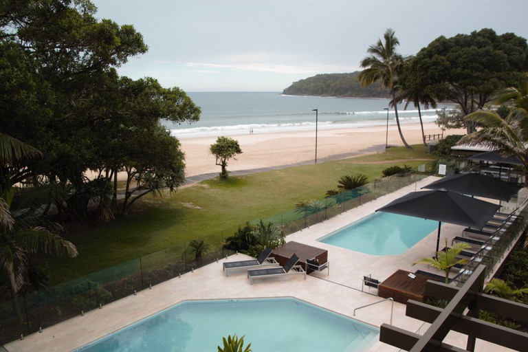 The view of Noosa beach from Seahaven Noosa Resort