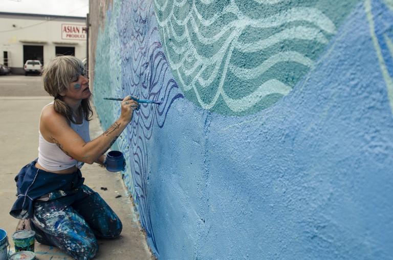 Reiss painting in Downtown LA ©Marnie Sehayek