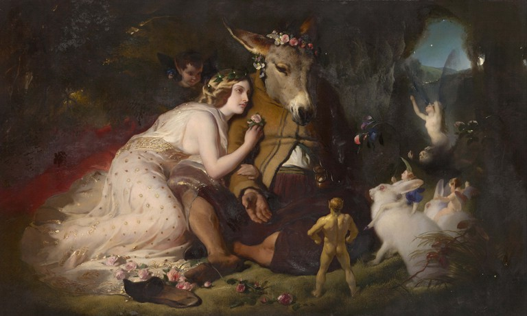 Scene from A Midsummer Night's Dream (1848-1851), oil on Canvas