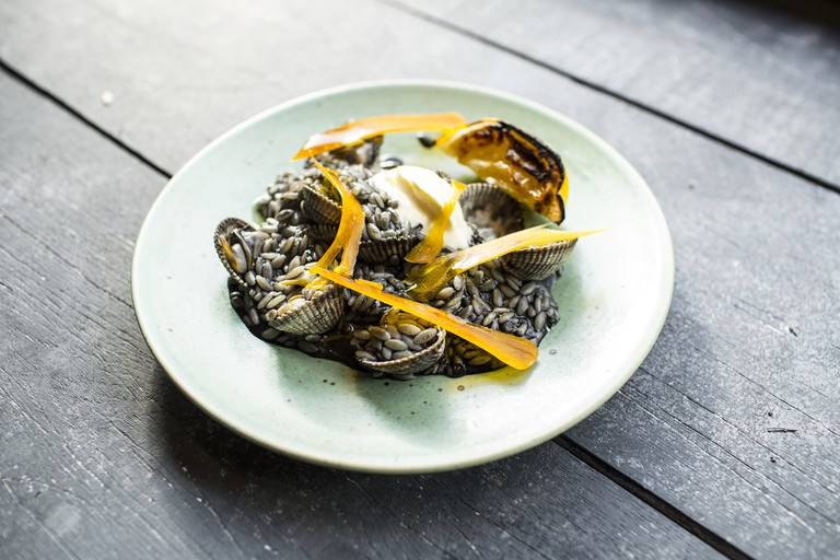 Orzo Nero with Cockles and Bottarga   © Stefan Johnson